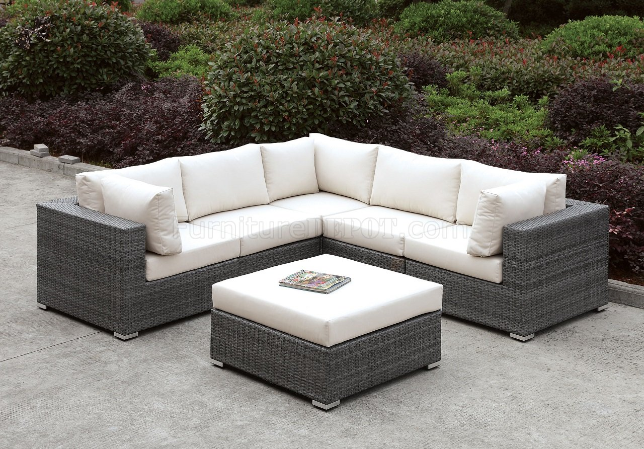 L Shaped Rattan Garden Sofa Somani Cm Os2128 12 Outdoor Patio L Shaped Sectional Sofa Set