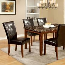 Elmore Dining Table With Faux Marble Top Cm3328t