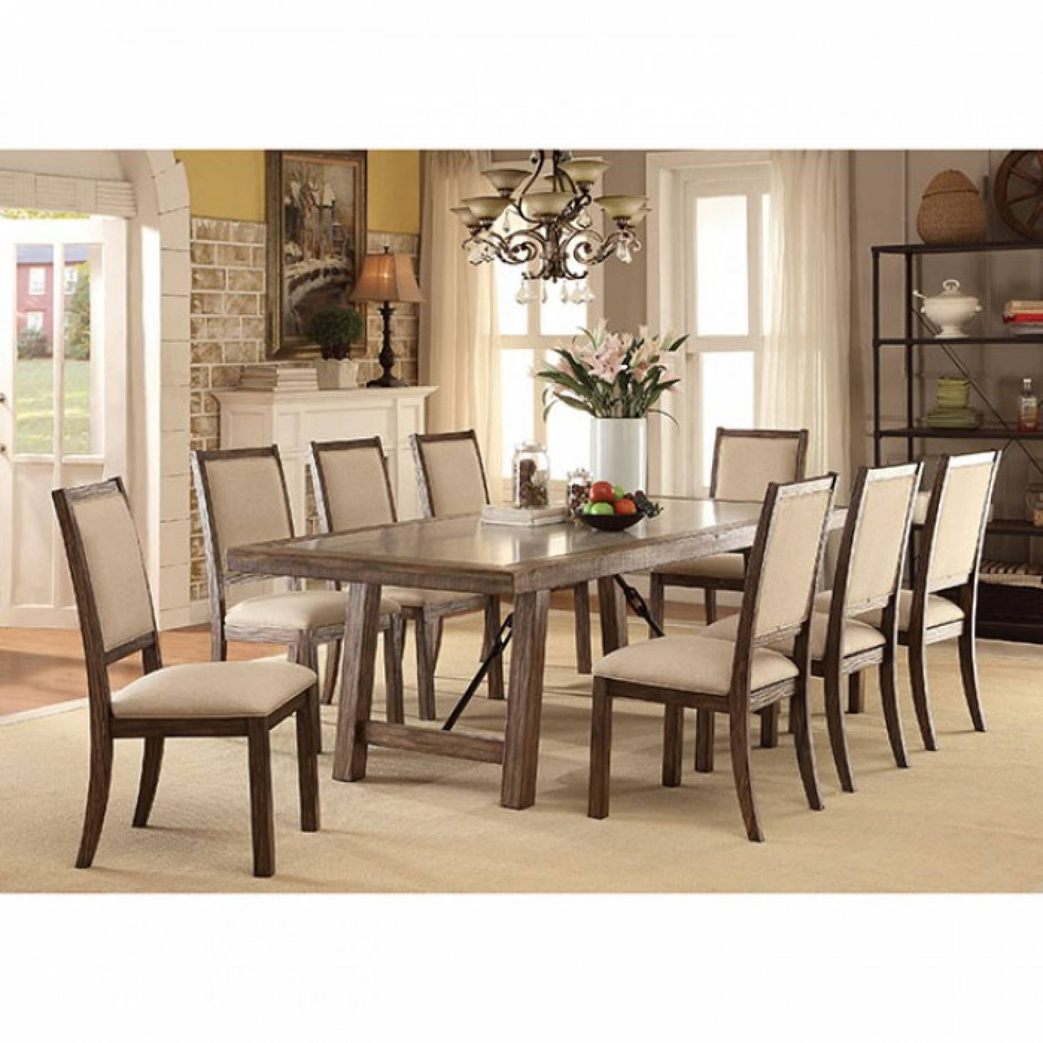 Dining Table 8 Chairs Colettte Dining Table 8 Chairs Cm3562t Gr9