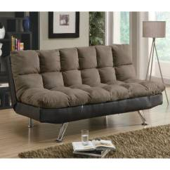 Dark Brown Microfiber Sofa Modern Dog Beds And Futons Contemporary
