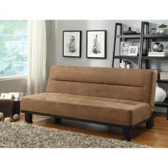 Brown Microfiber Sofa Bed Fabric Repair Callie Click Clack 4823br