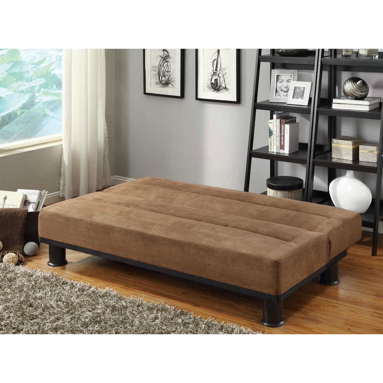 brown microfiber sofa bed chadwick herman miller callie click clack 4823br