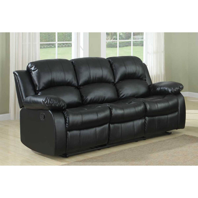double reclining leather sofa sleeper cranley black bonded