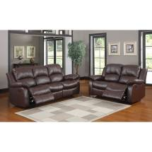 2pc Cranley Reclining Sofa Set - Brown Bonded Leather