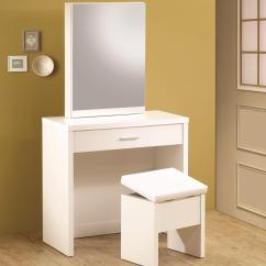 Vanity With Chair And Mirror Allsteel Task Vanities White Hidden Storage Lift