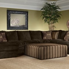 How To Decorate My Living Room With A Sectional Window Treatments Large The Barbados Plush Modern ...