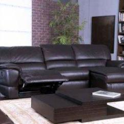 3 Pc Sectional Sofa With Recliners Elran Reclining New Abbyson Living Unfinished Furniture Armoire At ...