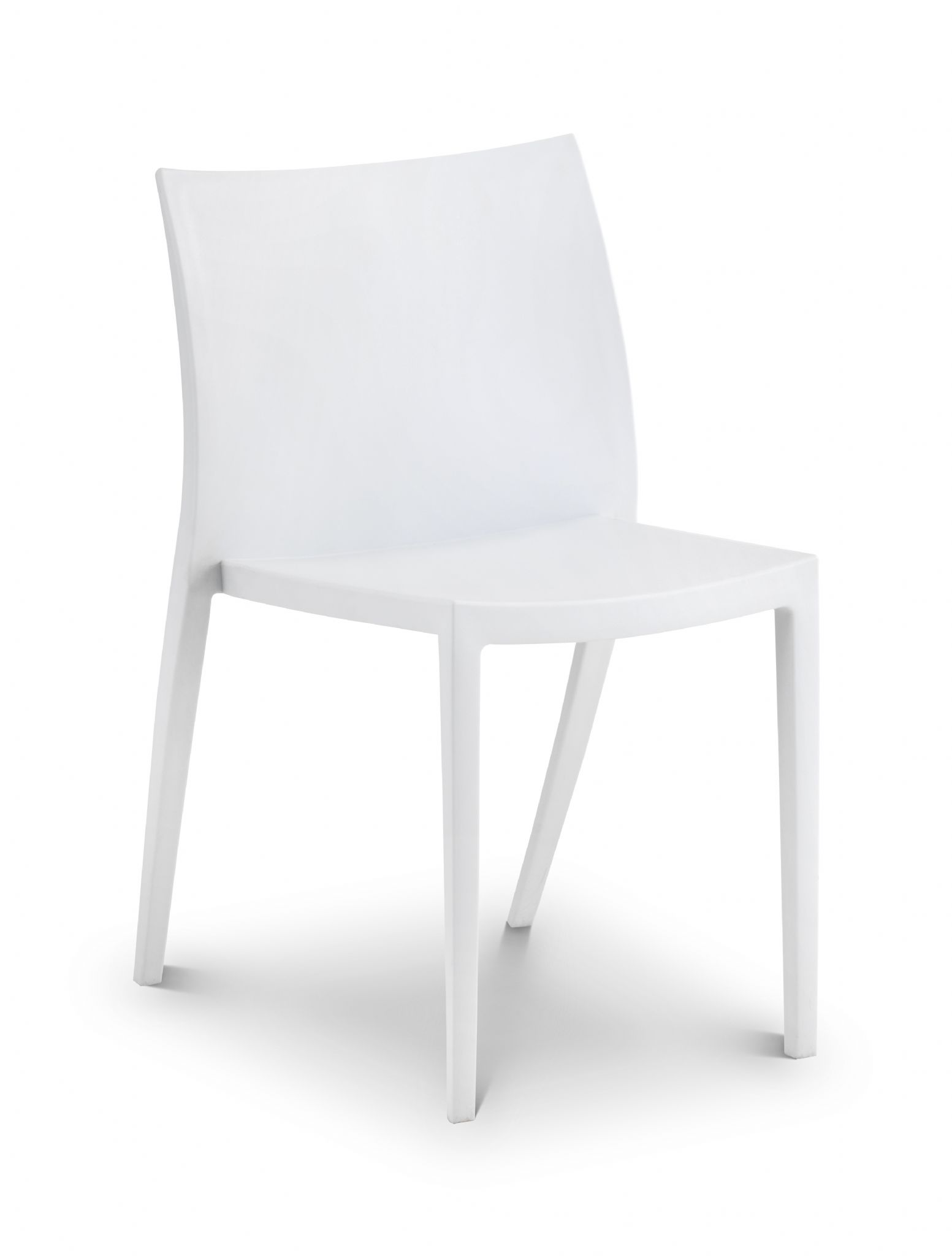 White Stackable Chairs Assisi White Stylish Stacking Chair Jb214