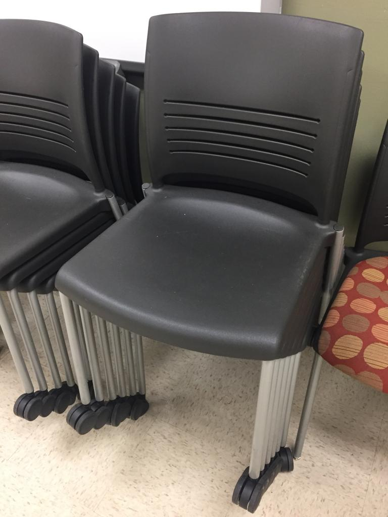 Ki Chairs Used Office Chairs Ki Strive Armless Stack Chairs At Furniture