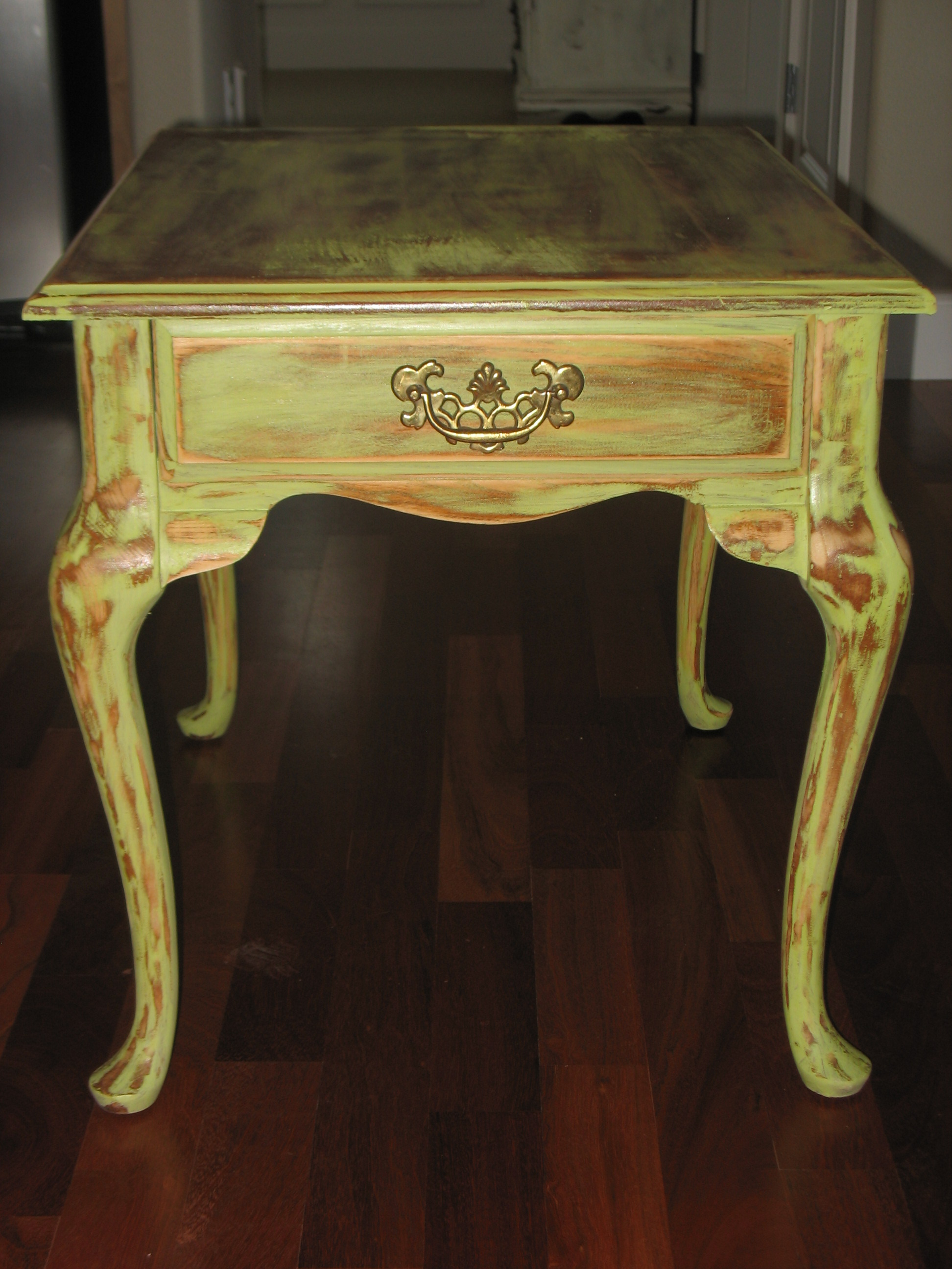 End Table Ladybirds Vintage