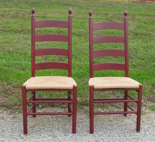 shaker ladder back chair desk 22 inch seat height furniture from the barn img 4777sq 2355 2359 in antique red