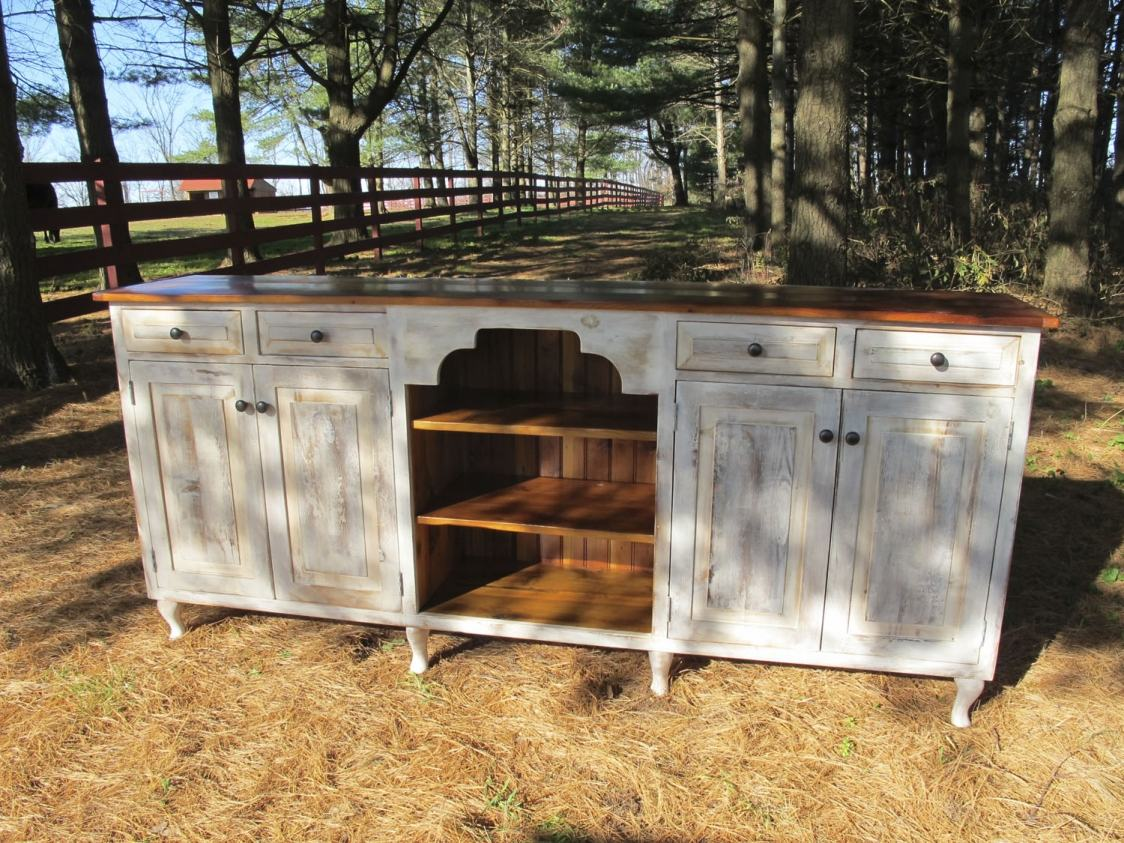 Tombstone Open Cabinet Buffet  Furniture From The Barn