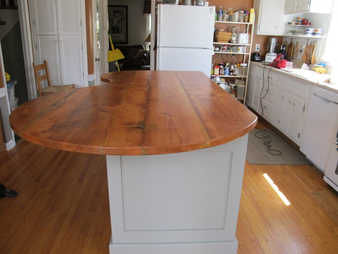 Kidney Shape Counter Kitchen Island  Furniture From The Barn