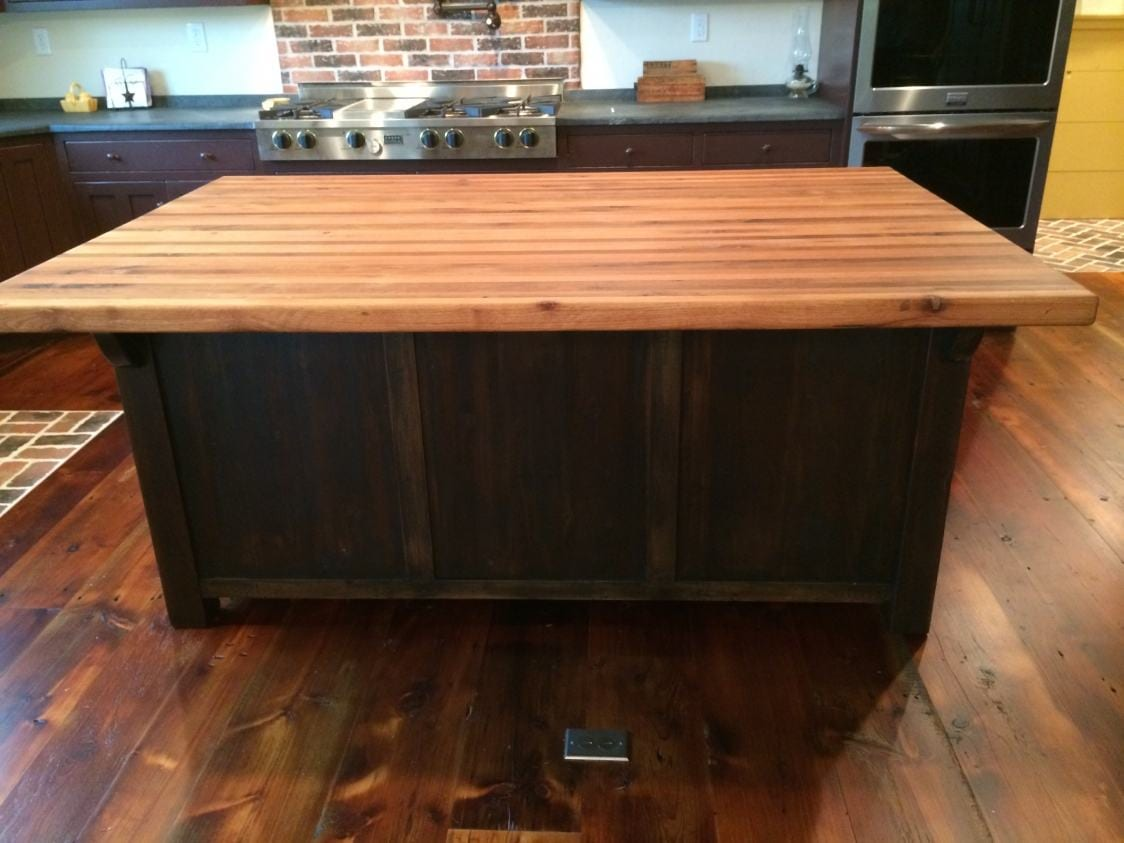 Butcher Block Kitchen Island with Overhang  Furniture