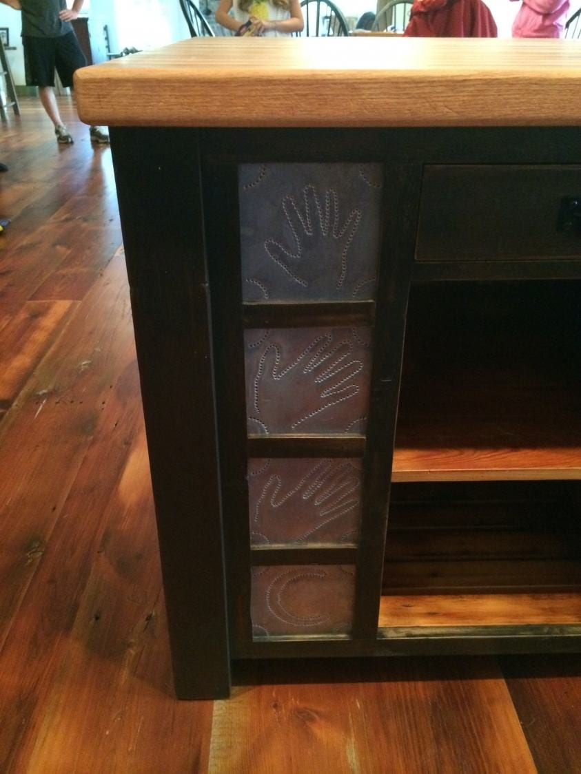 Butcher Block Kitchen Island with Overhang  Furniture From The Barn