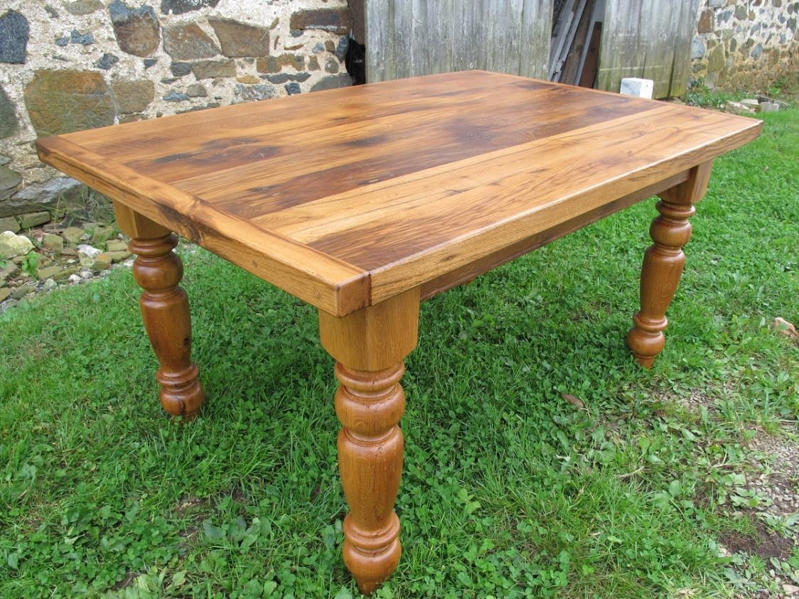 kitchen islands for sale unfinished cabinets home depot oak table with 2″ thick top | furniture from the barn