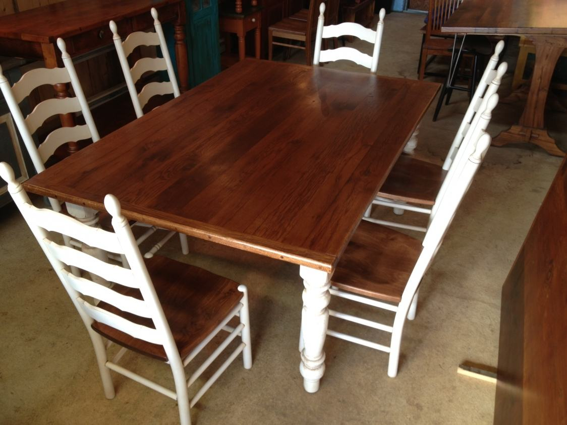 white ladder back chairs fabric covers for dining oak tables with painted legs | furniture from the barn