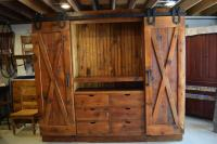 X barn door entertainment cabinet | Furniture From The Barn