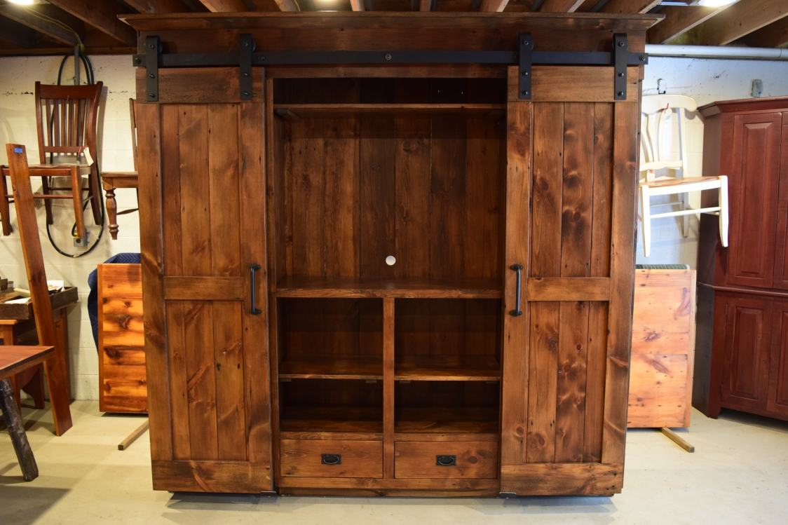 Wardrobe Barn Door Entertainment Cabinet Furniture From