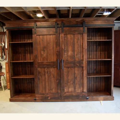 unfinished kitchen chairs tables with storage open shelves barn door entertainment cabinet | furniture ...