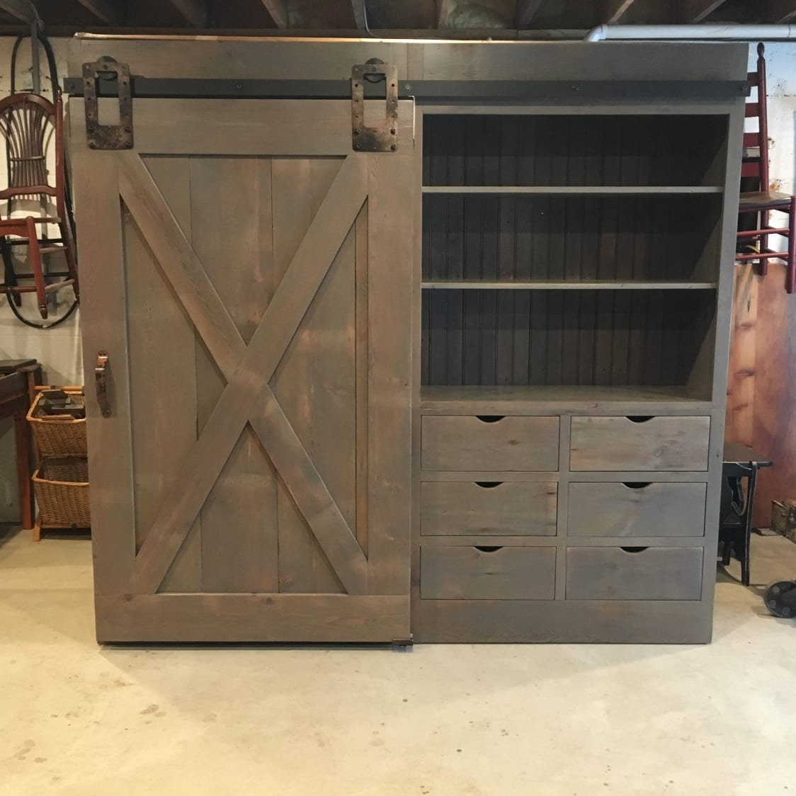 Barn Door Cabinet With One Door Furniture From The Barn
