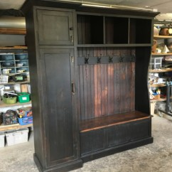 Tall Office Chairs Pc Racing Chair Hall Tree With Side Gun Cabinet   Furniture From The Barn