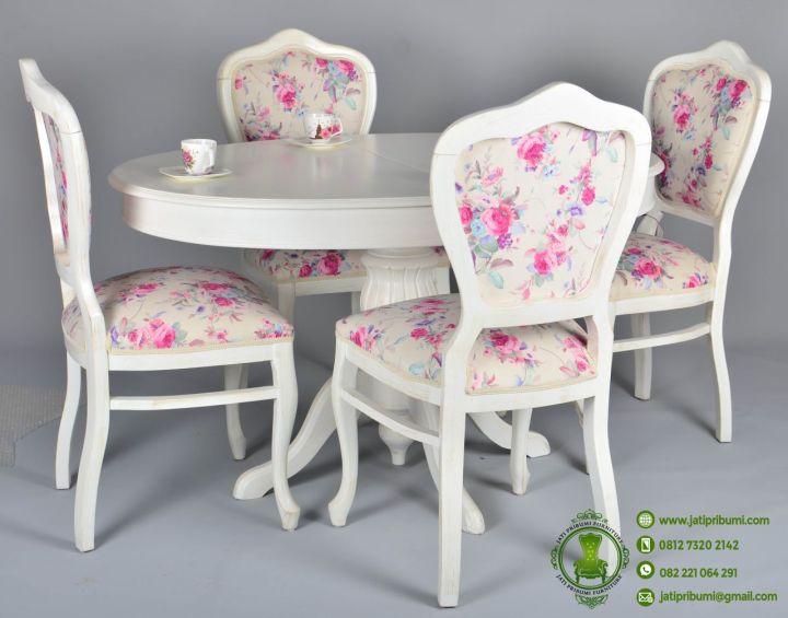 Meja Makan Minimalis Warna Putih Dari Kayu Berkualitas