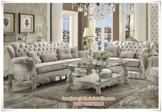 Sofa Ruang Tamu Mewah Leonie sofa tamu sofa ruang tamu  furniture jati minimalisfurniture