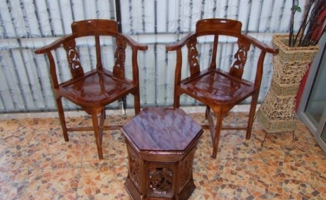 Jual Kursi Teras Kayu Jati Minimalis Toko Furniture