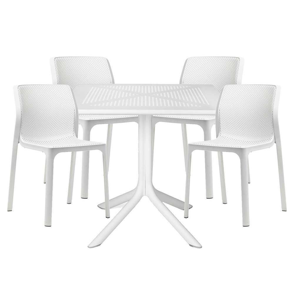 Resin Chairs Bit Dining Set With Plastic Resin Chairs And 31