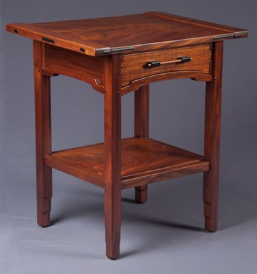 Aurora End Table  Nightstand  Darrell Peart  Furnituremaker
