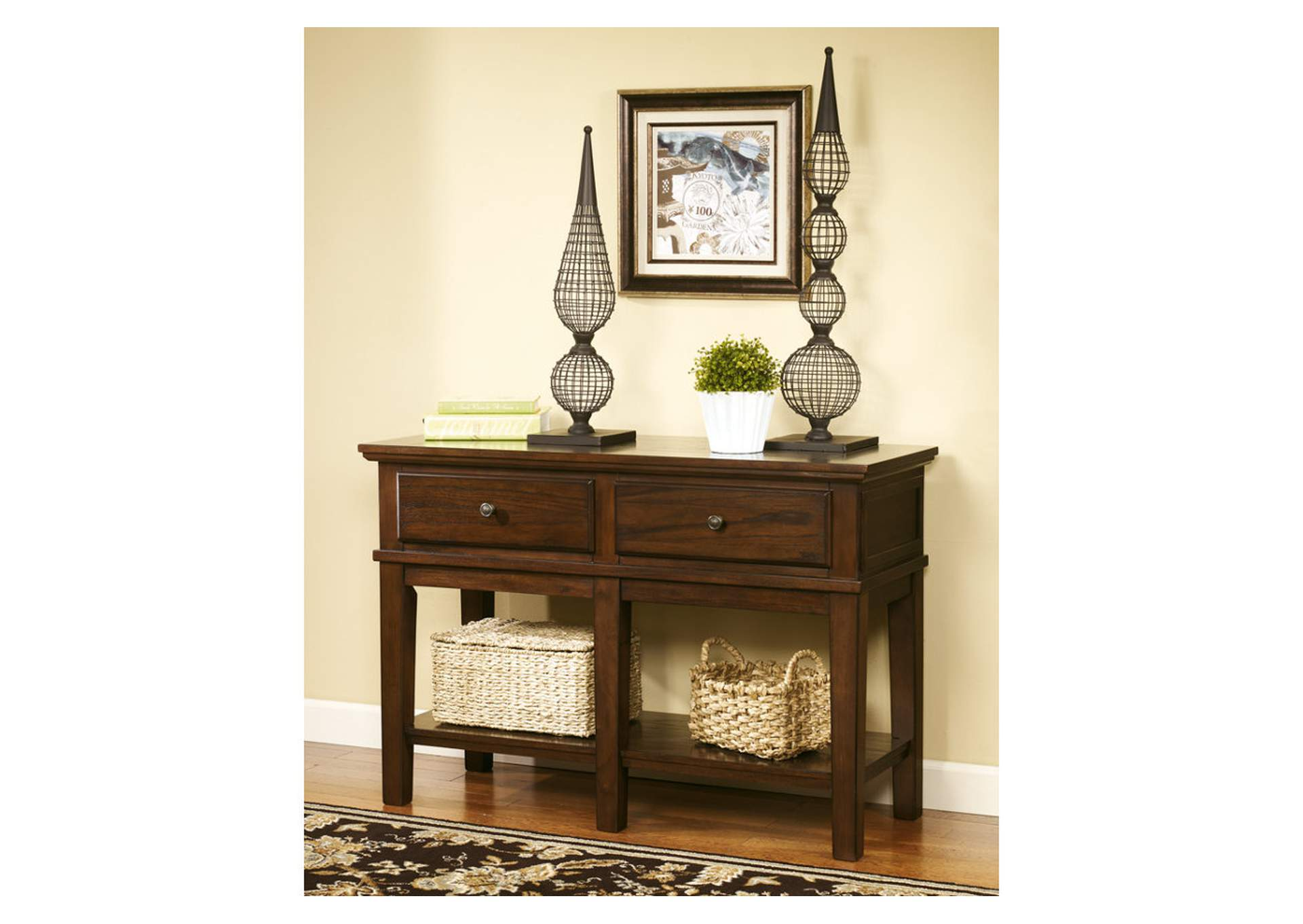 star furniture sofa table tufted leather gately console