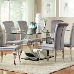 Living Room Sets In Miami Fl Rooms Ideas Modern Big Box Furniture Discount Stores Florida Chrome Plated Dining Table W 4 Side Chairs Coaster