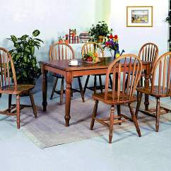 Oak Farmhouse Chairs Childrens Plastic Table And Orleans Furniture Rectangular Dining W 6 Arrow Windsor Side Crown Mark