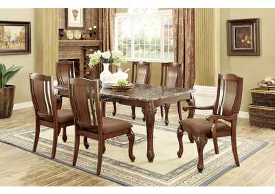 metal dining chairs johannesburg leather chair high back best buy furniture and mattress i brown cherry table w faux marble top