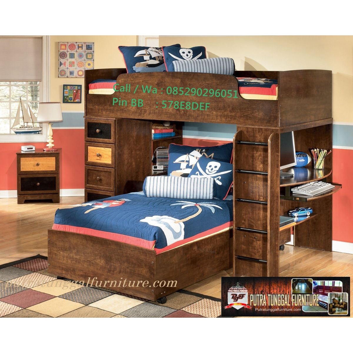 tempat tidur anak jati minimalis  furnitureminimalisblog