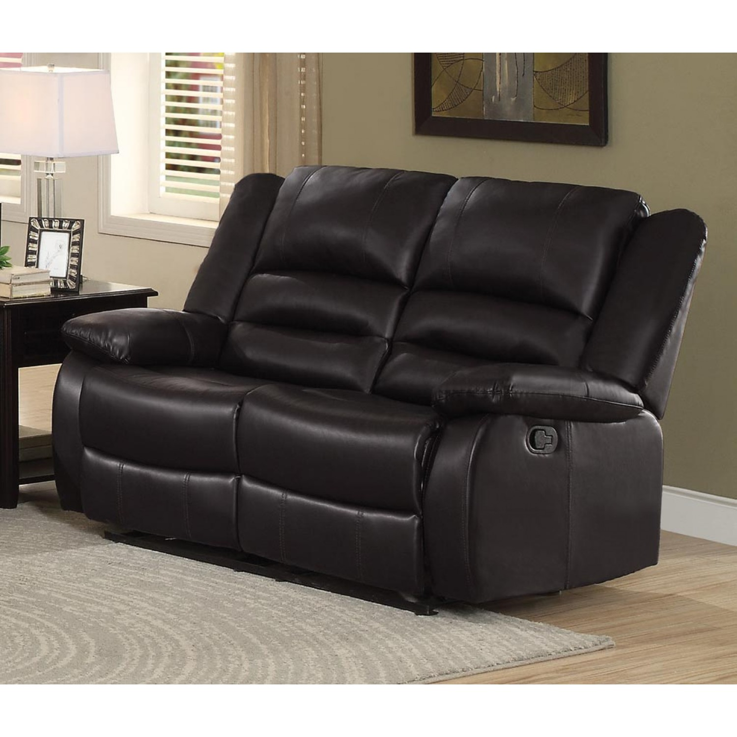 Double Recliner Chair Homelegance Jarita Brown Double Reclining Love Seat