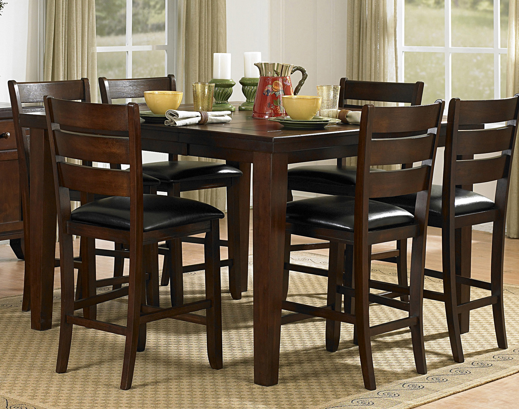 Counter Height Dining Room Chairs Homelegance Ameillia 5pc Counter Height Dining Room Set