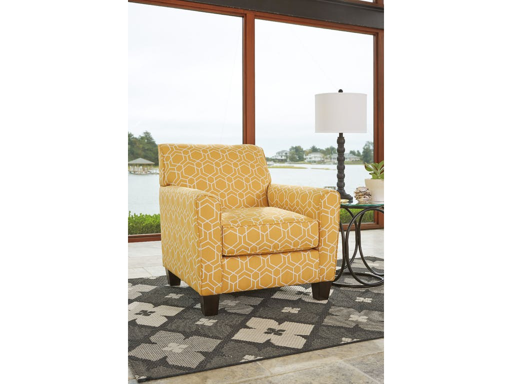 Yellow Living Room Chair Ashley Ayanna Nuvella Yellow Accent Chair Dallas Tx