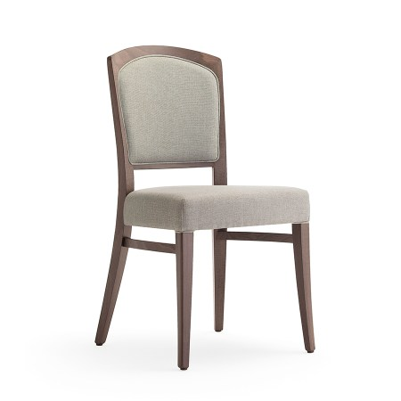 Tiffany 1 side chair with upholstered inset back and seat