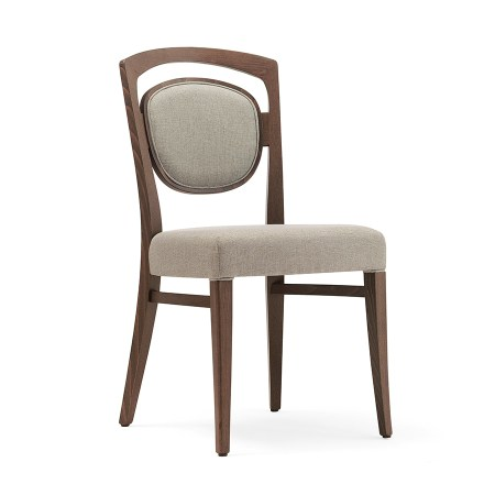 Tiffany 2 side chair with upholstered seat and back