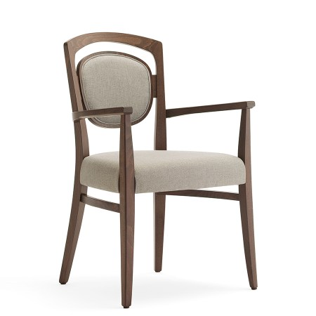 Tiffany 2P arm chair with upholstered back and seat