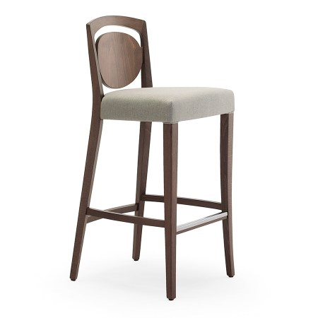 Tiffany SG high stool with upholstered seat