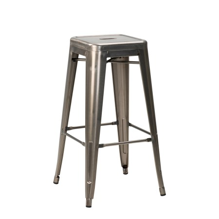 french bistro high stool in gunmetal