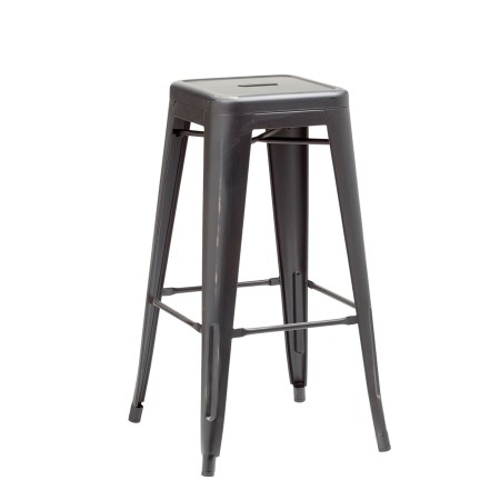 Frech bistro high stool distressed black