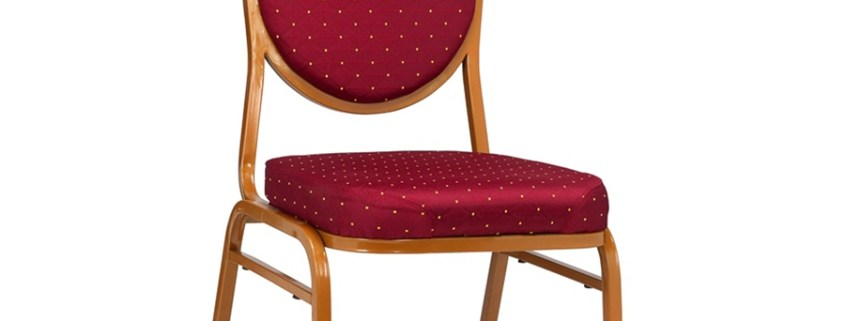 ALO Stacking Chair Red Pattern (Angle)