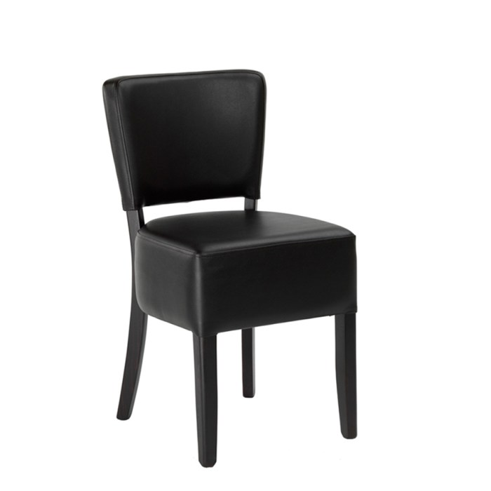 Alto Side chair with a Dark Brown upholstery and a Wenge Frame