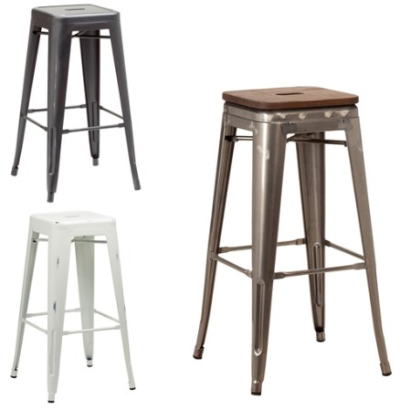 Stock selection of french bistro high stool