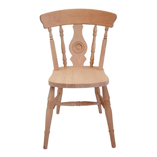 farmhouse bulleye back side chair