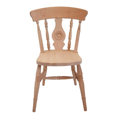 farmhouse bulleye back side chair
